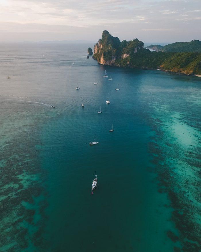 Dronebilde Phi Phi Island