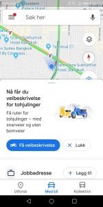 Google Maps Motorbike Mode